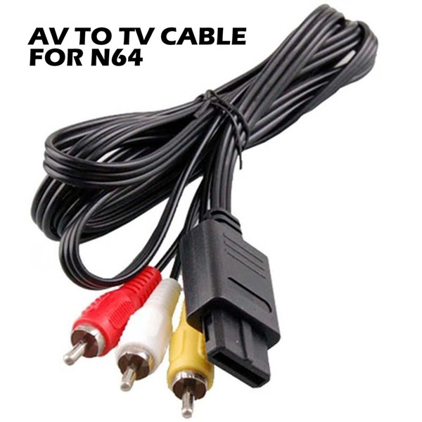 video games console cable 180cm AV TV RCA Video Cord Cable For Game cube For SNES GameCube/for Nintendo for N64 64