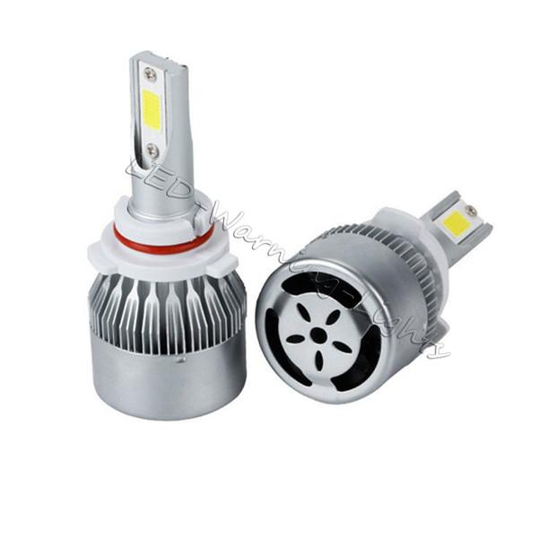 C6 COB 36W 3600lm LED headlight bulb kit auto headlamp light H1 H3 H4 H7 H11 9005/9006 9007 880/881 9012