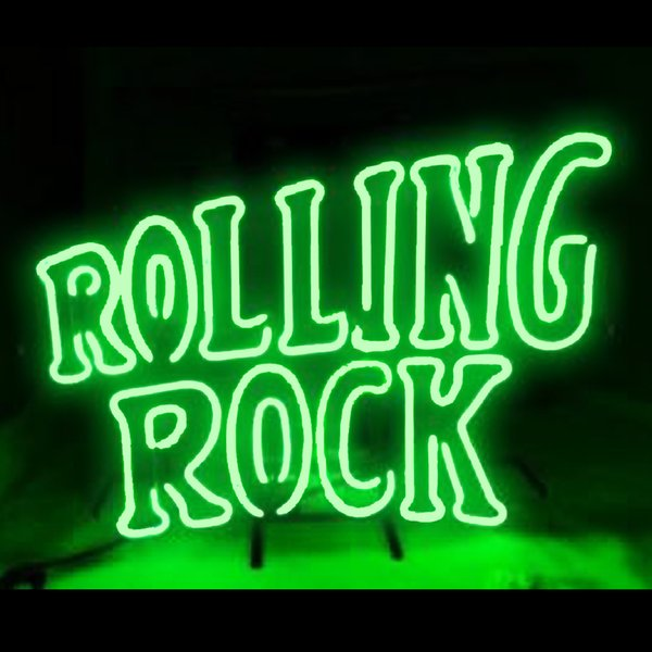 Neon Signs Gift Rolling Rock Beer Bar Pub Store Party Homeroom Decor 19X15