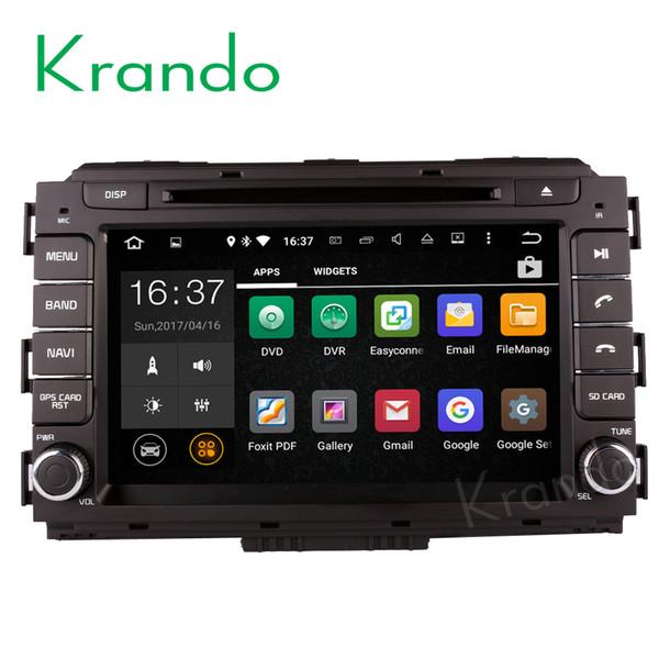"Krando Android 8.0 8"" car dvd navigation system for kia carnival 2015 2016 2017 radio gps dvd player multimedia WIFI 3G Playstore"
