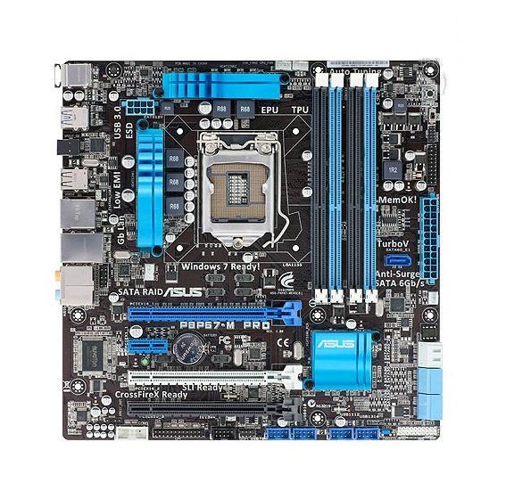 Für Asus P8P67-M PRO Intel Hauptplatine LGA 1155 P67 Chipsatz SATA 6 Gb / s USB 3.0 Mikro u-ATX i3 i5 i7 DDR3 32 Gb Systemboard