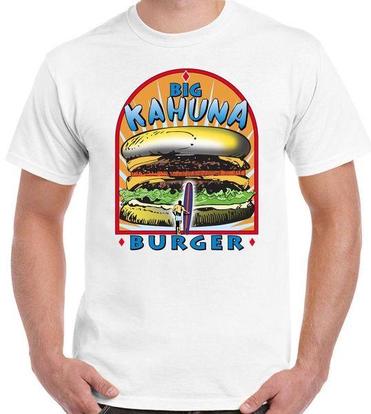 Grande Hambúrguer Kahuna Mens T-Shirt Engraçado Pulp Fiction Filme Filme Camisa de Algodão Hight Qualidade Homem T Shirt T-Shirt Da Forma