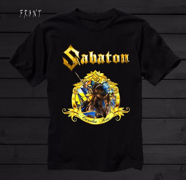 Sabaton Carolus Rex sueco poder banda de Metal T shirt tamanhos S 3xl T camisa estilo verão homens camiseta Top Tee