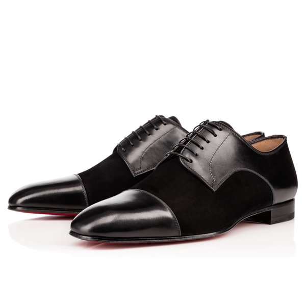 Elegante Gentleman Red Bottom Designer di lusso Top Daviol Sneakers Uomo piatto di alta qualità Casual Business Wedding Party Dress Taglia 36-46