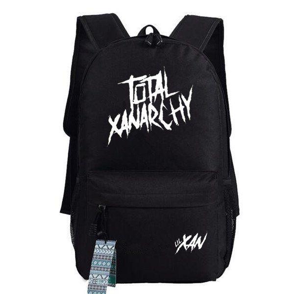 Total xanarchy backpack Rapper school bag Lil Xan daypack Casual laptop schoolbag Outdoor rucksack Sport day pack
