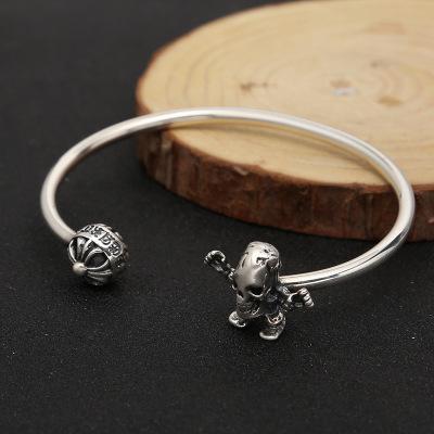 cross & skull bracelet