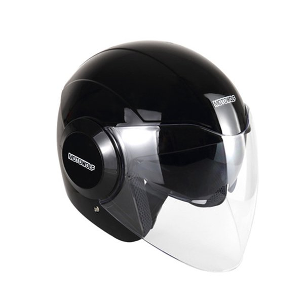 Cycling Motorcycle helmet safety hat warm men and women autumn and winter cold half-covered double lens half helmet protection