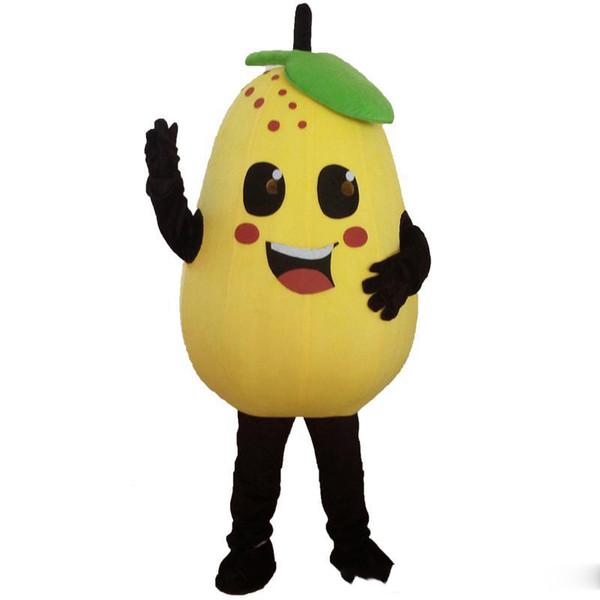 2018 Alta qualidade Frutas Legumes Trajes Da Mascote Completa Outfits Abóbora árvore de Natal Traje adulto crianças tamanho Fantasia Halloween
