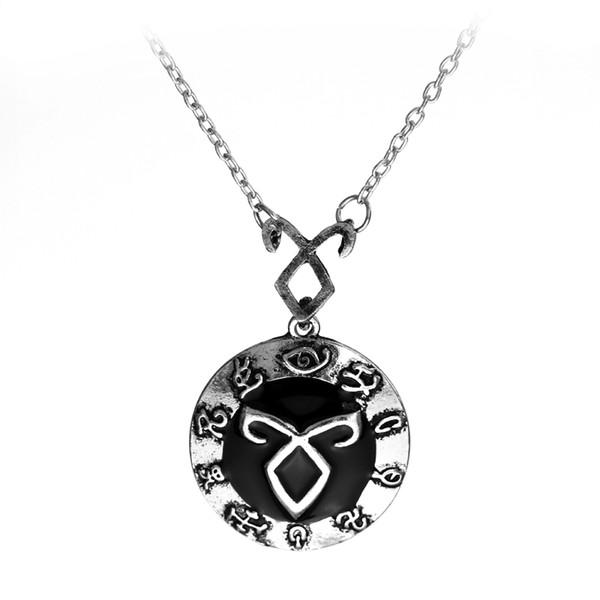 MQCHUN Angelic Poder Rune Colar Inspirado A Mortal Instruments Cidade dos Ossos Sombra caçadores Pingente de Colar Para Mulheres Dos Homens