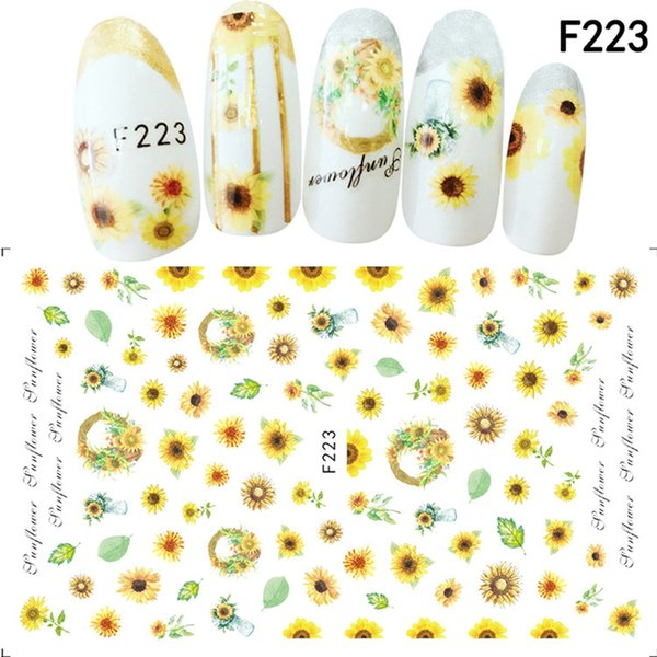 Mtssii 1pcs Nail Sticker Cute Cat Flower Water Transfer Decal Sliders Nail Art Decoration Tattoo Manicure Wraps Tools Tips