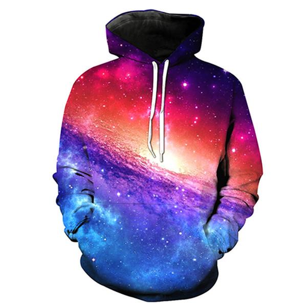 Erkekler Hoodie Yıldızlı Gökyüzü Galaxy 3D Baskı Adam Kapüşonlu Sweatshirt Unisex Casual Kazak Hoodies Uzun Kollu Tişörtü Dijital Tops (RL0585)
