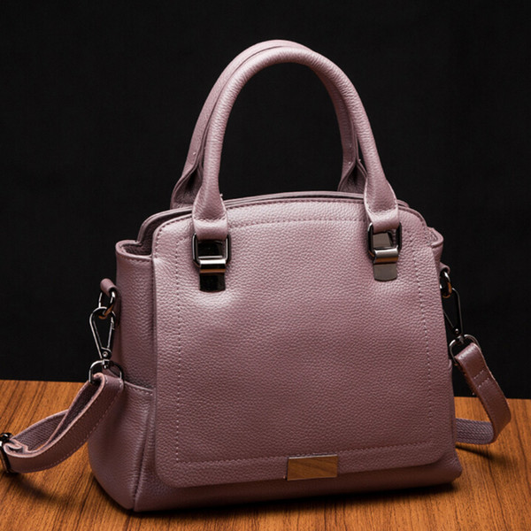 2018 Genuine Leather bag Spring new Fashion strap pocket female single Shoulder Cross Body handBag for women 1131