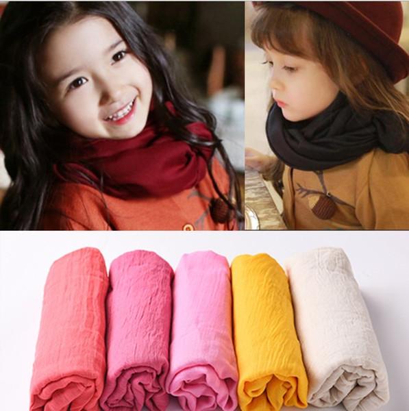 Mode Kinder Winter Designer Schal Baumwolle wärmer Pashmina Schals 19 Farben billig Schal für Optionen Modell-Nr. NE910