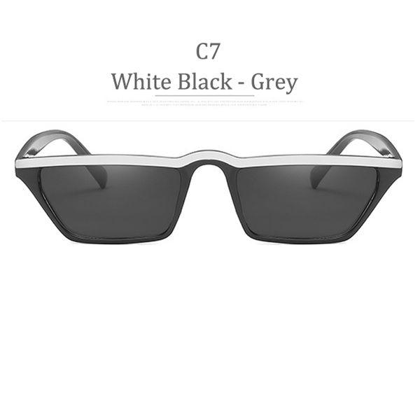 Lente grigia con montatura nera bianca C7
