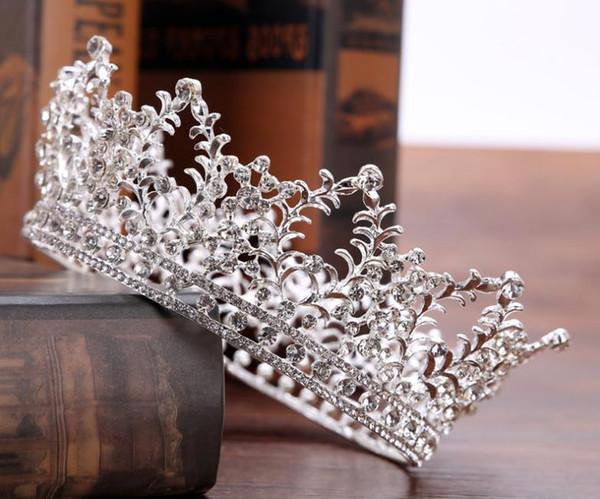 Großhandel Neue Vollkrone Braut Krone Europäischen Vollkreis Wasser Diamant Hochzeit Zubehör Silber Gold Glas Kreis Von Potatodog 2011 Auf