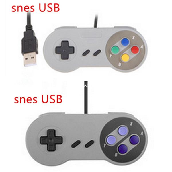 SNES Game Game Pad Controller Para Super Nintendo USB Com Fio Clássico Joystick Controladores de Jogo Para XP WIN 7 8 10 VISTA MAC