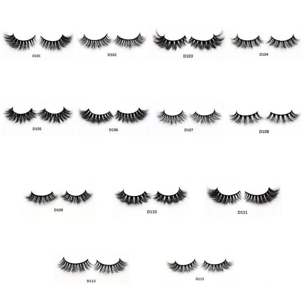 3D Nerz Wimpern Chaotisch Cross Thick natürliche gefälschte Wimpern professionelle Make-up Großaugen Auge Wimpern handgemachte 1 Paar mit benutzerdefinierten Box