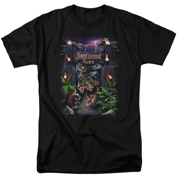 Jurassic Park Benvenuti al parco Maglietta per adulti con licenza Maglietta in cotone a maniche corte Maglietta TOP TEE spedizione gratuita