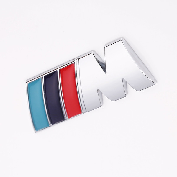 1 pc / lot Cool Voiture Auto Décoration Autocollant Autocollants M Logo En Métal 3D Autocollant De Voiture pour BMW M3 M5 X1 X3 X5 X6 E36 E39 E46 E30 E60