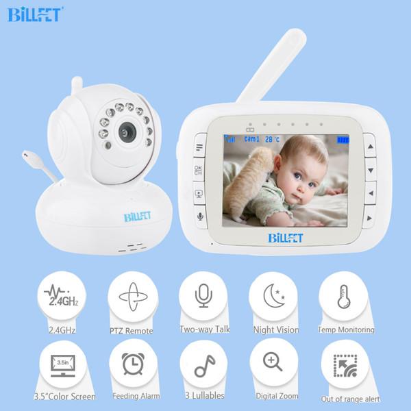 Video inalámbrico Monitores para bebés 3.5 pulgadas PTZ Remoto Girar Bebé arrullo electrónico enfermera Monitor Nanny camara vigilancia bebe