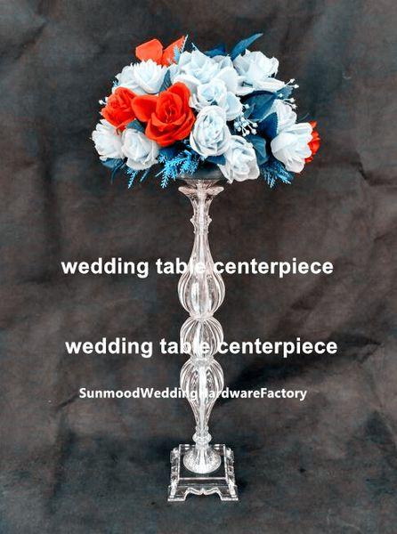 New European Acrylic Crystal candlestick Flower Stands decorative wedding centerpieces chandelier decoration wedding flower stand best00041