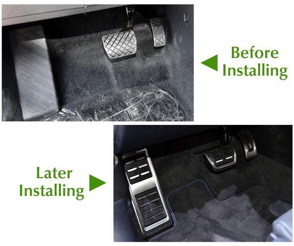 New Car Pedals Cap Foot Rest Cover Accelerator Brake Clutch for Octavia A7 Golf 7 GTi MK7 Seat Leon Audi A3 Passat
