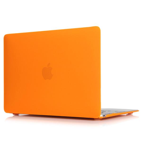 Funda dura de goma mate para Macbook ProLaptop Shell-Pro naranja de 13 pulgadas
