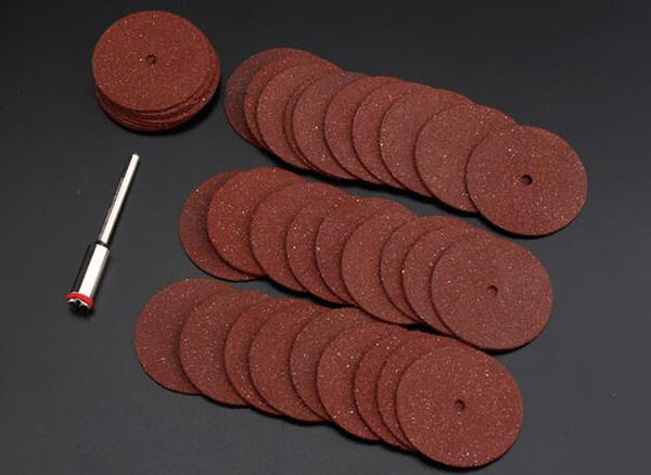 top popular 35pcs lot 23mm Mini High Speed Resin Cutting Plate Grinding Wheel Cutting Blade Metal Plastic Cutting Electric Grinding Accessories 2021