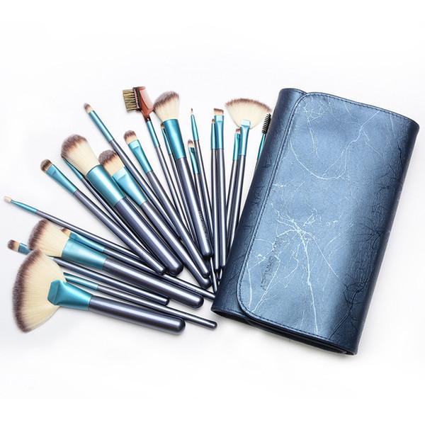 22 Pcs/Set Luxury Makeup Brushes Natural Hair Makeup Brush Set Professional Cosmetic Make Up Tools Kits Beauty Cosmetic Brush