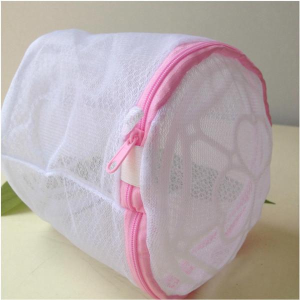 bolsa de lavandería delicada malla cerrada sujetador sólido bolsa de lavandería ropa interior bolsa de lavandería tela de nylon