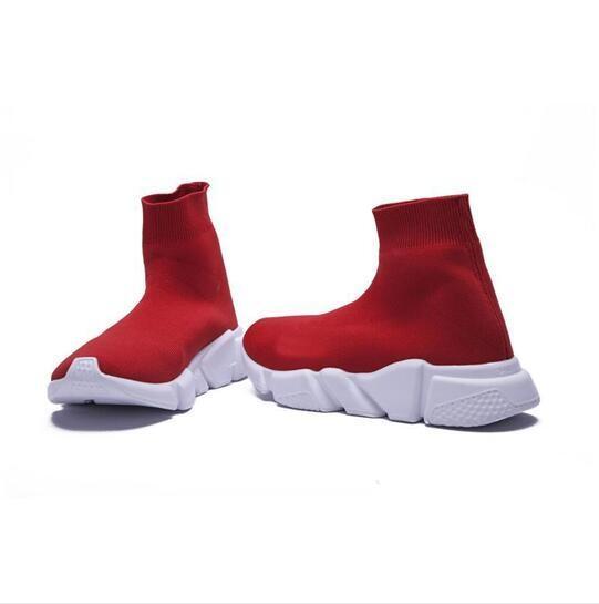 Lüks Çorap Ayakkabı Rahat Ayakkabı Hız Eğitmen Yüksek Kalite Sneakers Hız Eğitmen Çorap Yarış Koşucular siyah Ayakkabı erkekler ve kadınlar Ayakkabı 36-45