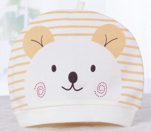 2018 new cotton knitted children's hat, hand cartoon Baby Hat, newborn baby fetal cap L453