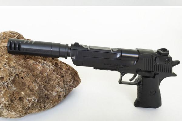 Bloques de construcción de bricolaje pistola de juguete Desert Eagle airsoft air guns Asamblea Toy Puzzle pistola de pistola airsoft puede disparar balas pistola