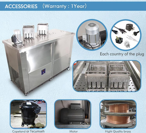 eu us ent to door 4 set mold ice popsicle machine ice lollipop ice cream machine lolly making machine with 4 mold sets,refrigerant