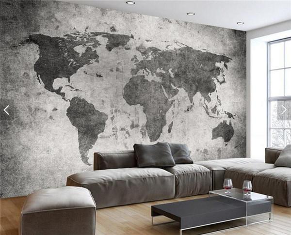 Acquista Europeo Retrò Vintage Mappa Del Mondo Parete Bar Coffe Shop  Murales Camera Da Letto Photo Wallpaper Paesaggio Qualsiasi Dimensione A  $30.6 ...