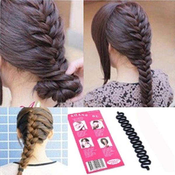 Fashion Women Lady Roller Hair Twist Styling Clip Stick Bun Maker Braid Tool Locks Weaves Hair Accessories