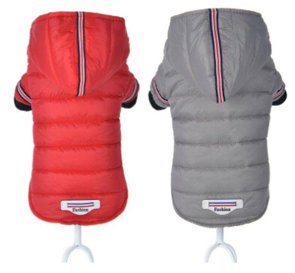 Perro de mascota Ropa de invierno Perro Abrigo de algodón cálido Cachorro de perro Moda Chaqueta con capucha Nuevos trajes de estilo