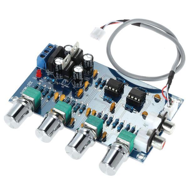 NE5532 Stereo Pre-amp Preamplifikatör Ton Kurulu Ses 4 Kanal Amplifikatör Kurulu Elektronik Parçaları Amplificador De Ses De 4 Canales