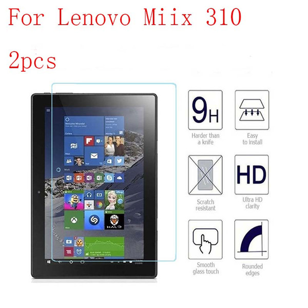 For Lenovo Miix 310 Explosion Proof Clear Tempered Glass 9H Screen Protector Tablet Anti Scratch LCD Guard 2pcs in 1 package