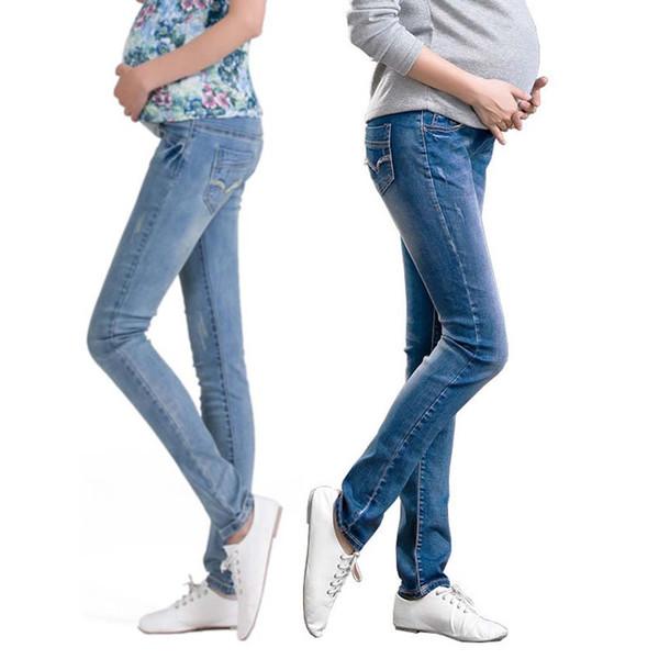 Moda Sonbahar Kış Artı Boyutu Analık Kot Analık Giyim Hamile Kadınlar Için Rahat Pantolon Elbiseler