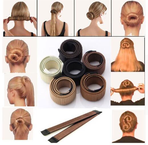 3Colors DIY Tool Hair Accessories 22cm Wig Donuts Bud Head Band Ball French Twist French Magic Bun Maker Sweet Hair Braider