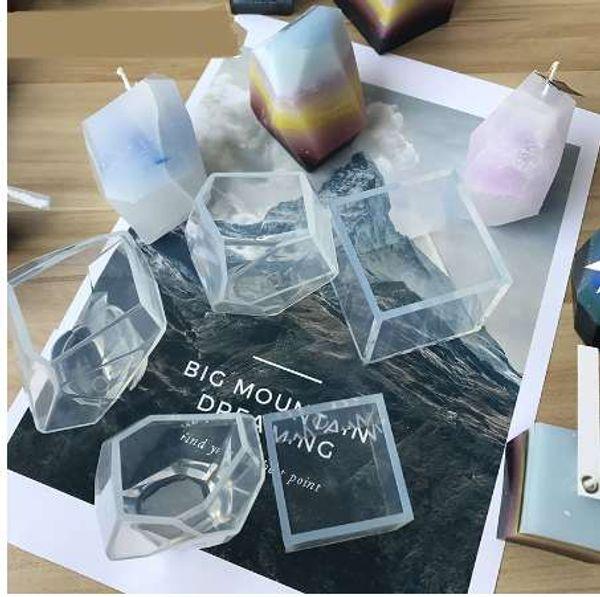 Candela in silicone di San Valentino Candela in silicone fai da te Stampo in silicone sapone fatto a mano Stampi poligonici Artigianato fai da te Stampi 3D Candela fabbricazione