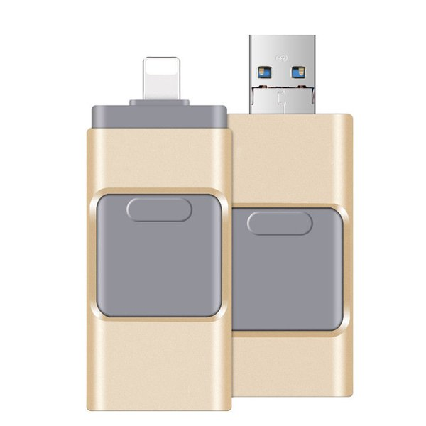 256GB 128GB 64GB 3 in 1 Flash Drive USB Memory Stick U Disk OTG Pendrive For Andriod iOS PC
