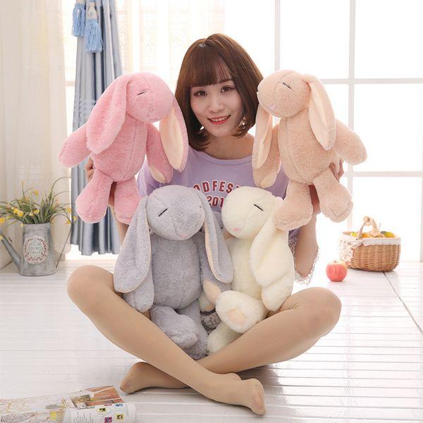 Originality Bundi Mimi Rabbit Long Ear Rabbit Plush Toy 4 Colors Lovely Narrow Eyes Rabbits Stuffed Animals Plush Dolls Free Shipping B0071