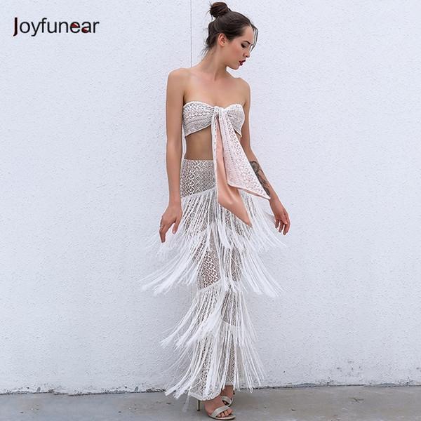 Joyfunear Summer Jumpsuit Women Sexy Perspective Tassel Rompers Womens Jumpsuit Elegant Lady Playsuit Bodysuit Women Club Wear