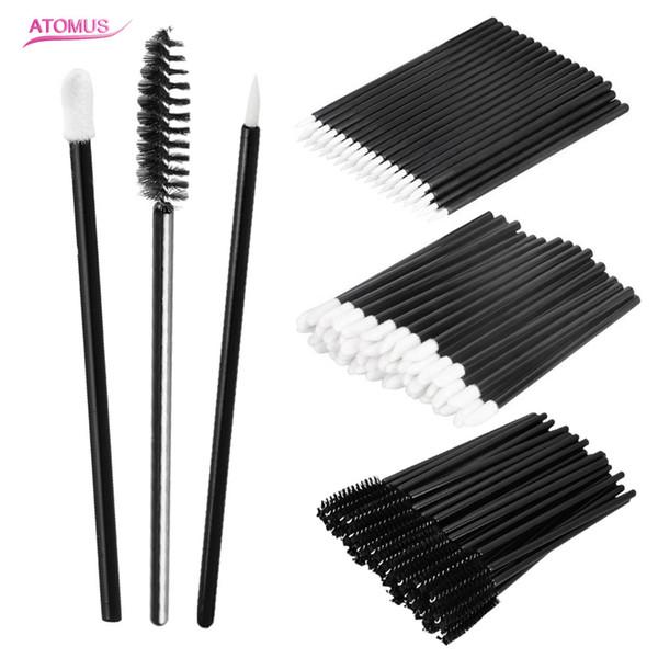 Atomus 150pcs Makeup brushes set mascara chopsticks Lip brush eyeliner pen cleaner cleaning disposable eyelashes makeup brush