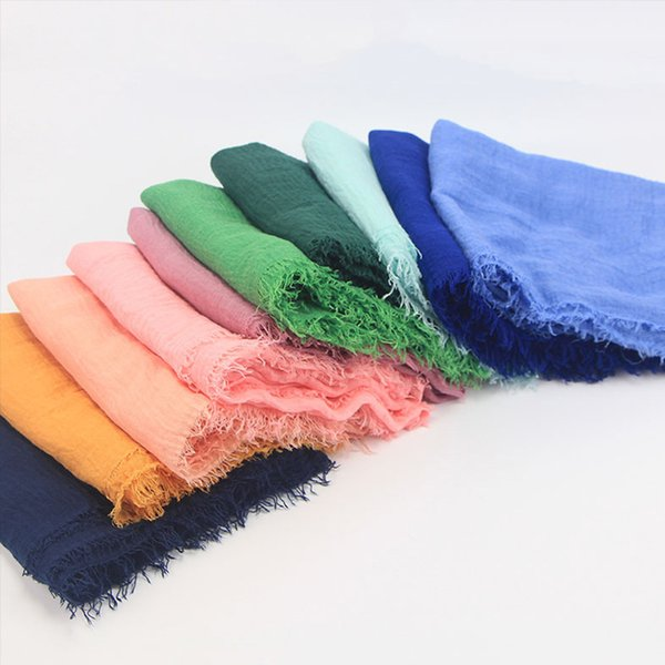 Cotton Headscarf Muslim Headscarf Hijab Solid Color Fashion Outdoor Ethnic Clothing 15 Colors Islamic Middle East