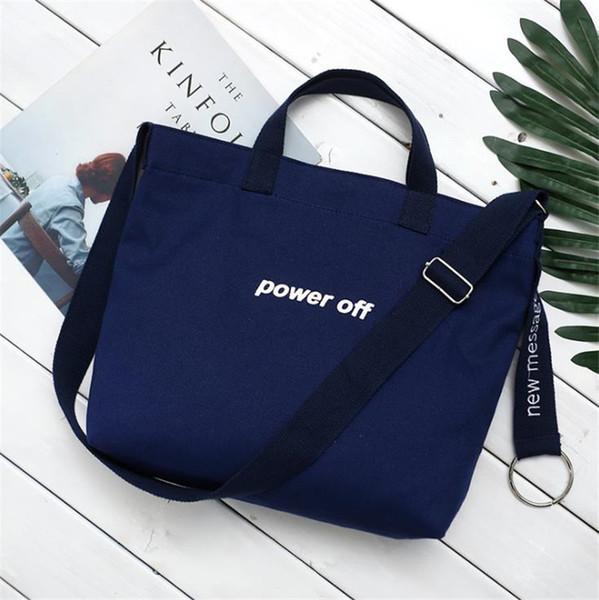Nuovo semplice borsa di tela coreana ricamo femminile borsa a tracolla Messenger moda moda selvaggia Sen borsa studentessa