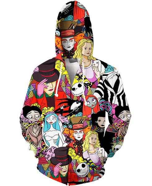 jacket mens jackets 3d totoro cartoon hoodie zipper sweater anime sweaters dragon ball Zip Up Hoodies Sweatshirt Men's Hooded Jackets S-5XL