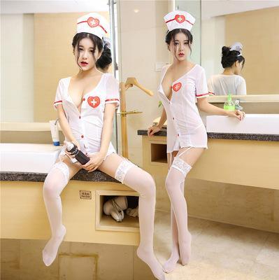 Reizvolle Unterwäsche der neuen einheitlichen Versuchungfrau der reifen Frauen Artperspektive weiße Engelskrankenschwesteruniformanzug